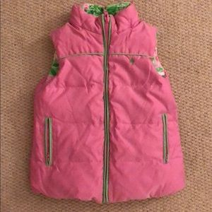 Lilly Pulitzer Jackets & Coats - Lilly Pulitzer Girls Reversible Vest